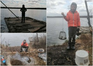 Maksimas žvejoja
